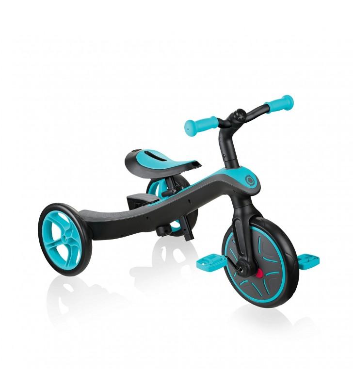 Triciclo e Bicicleta Criança 2 em 1 - Verde Azulado