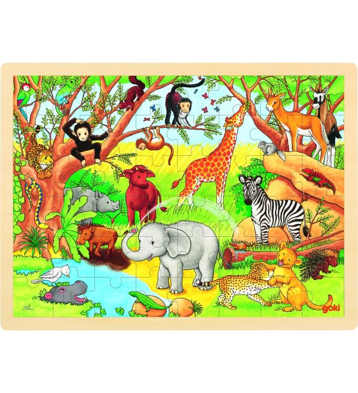 Puzzle África em madeira com 48 peças